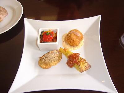4種盛り合わせの前菜